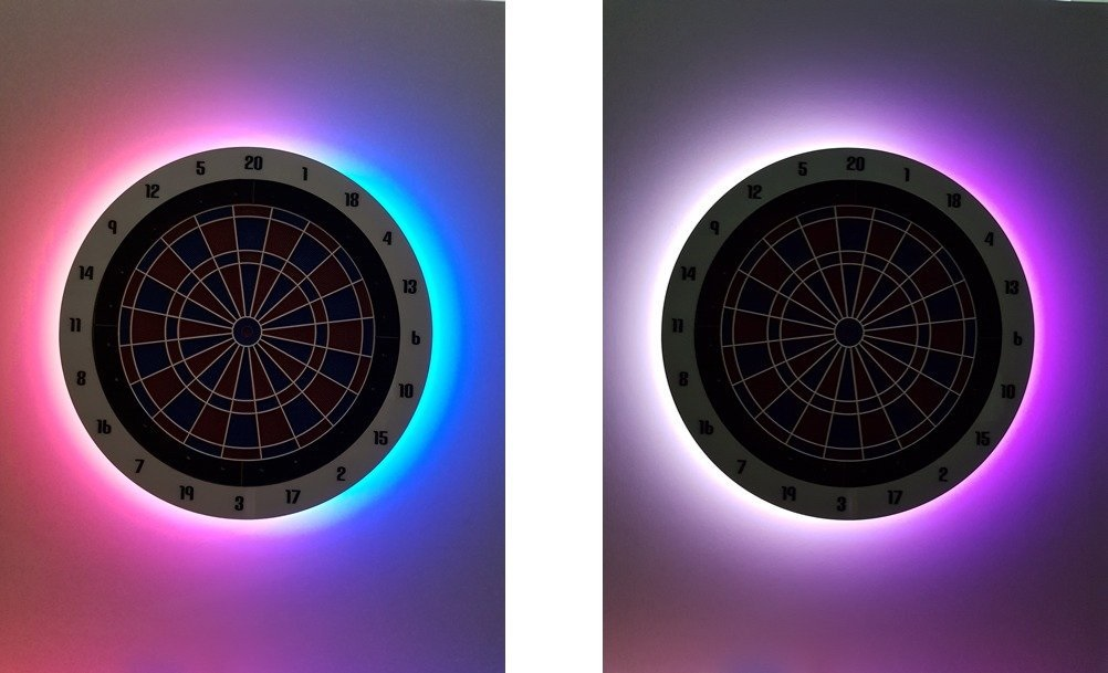 New Led S Effects Real Madrid And Fc Barcelona Colors Radikal Darts
